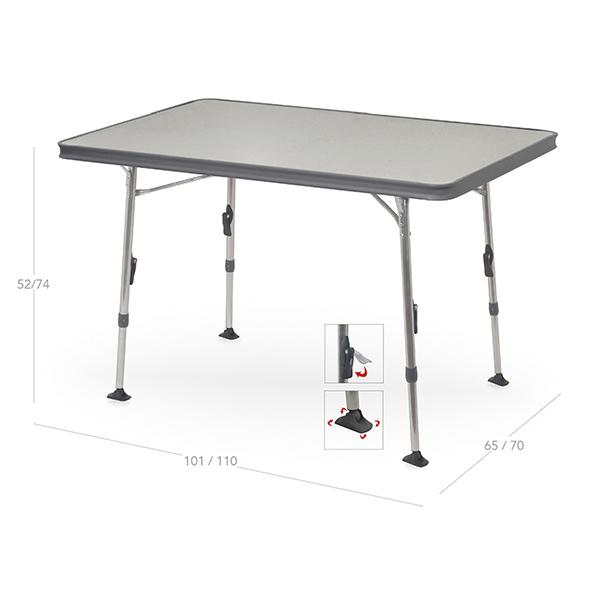 Mesas de camping crespo plegables y de aluminio for Mesas de camping plegables carrefour