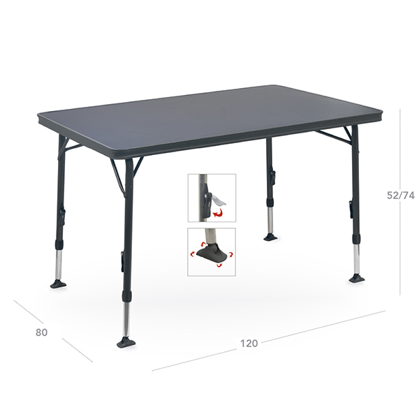 Mesas de camping crespo plegables y de aluminio for Mesas de terraza plegables